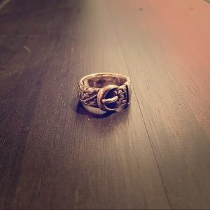 James Avery Floral Belt and Buckle Ring